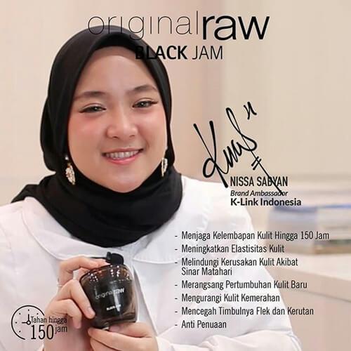 cara memakai kirim black jam original raw ala nissa sabyan