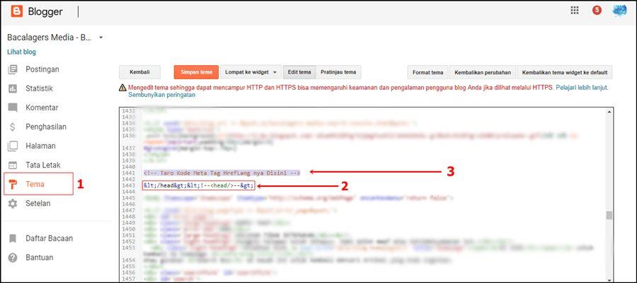 tutorial memasang meta tag hreflang di blogspot