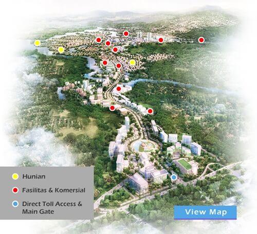 fasilitas dan denah lokasi kota baru parahyangan bandung