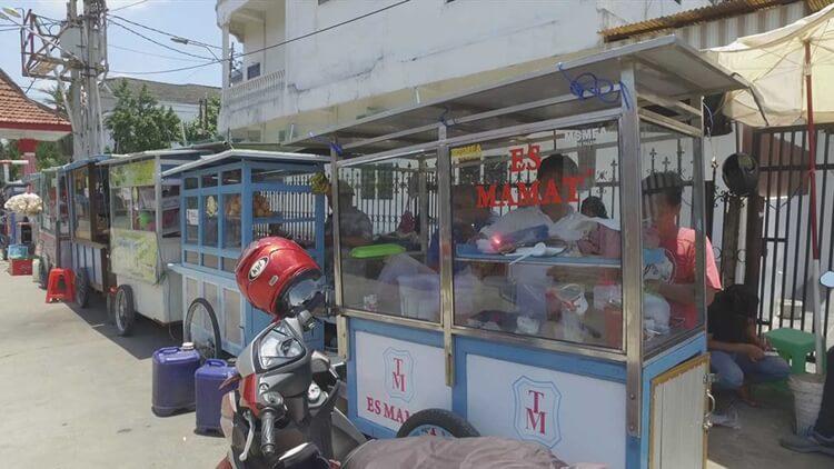 wisata kuliner es kacang merah mamat palembang