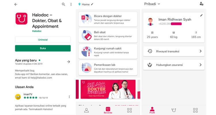 panduan dan cara download aplikasi halodoc konsultasi dokter