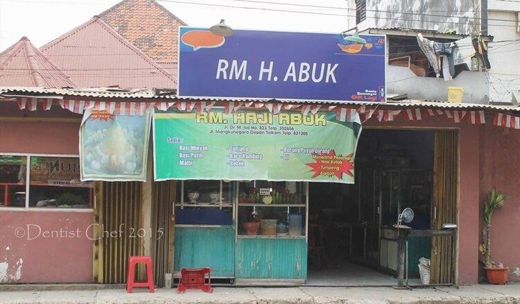 wisata kuliner rumah makan h. abuk palembang
