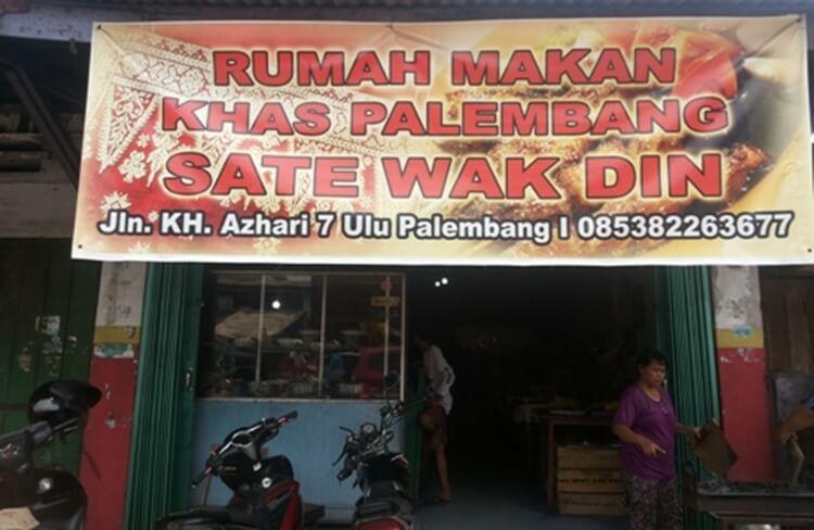 wisata kuliner sate wak din palembang
