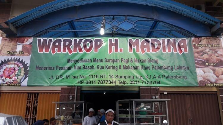 wisata kuliner warung kopi h. madina kuto palembang