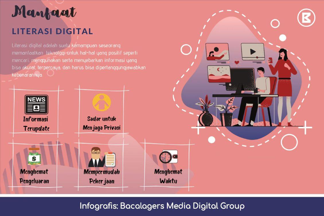 infografis manfaat literasi digital di era milenial