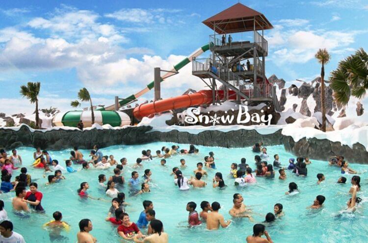 snow bay waterpark taman mini indonesia indah tmii, tempat wisata jakarta timur