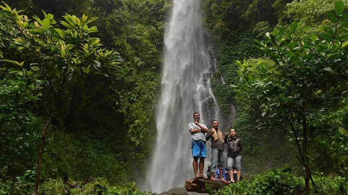air terjun sinar tiga, destinasi wisata lampung yang ngehits dan instagrammable