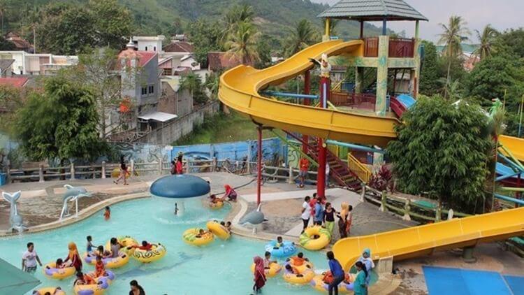 d'mermaid waterpark, tempat wisata lampung ramah anak dan populer
