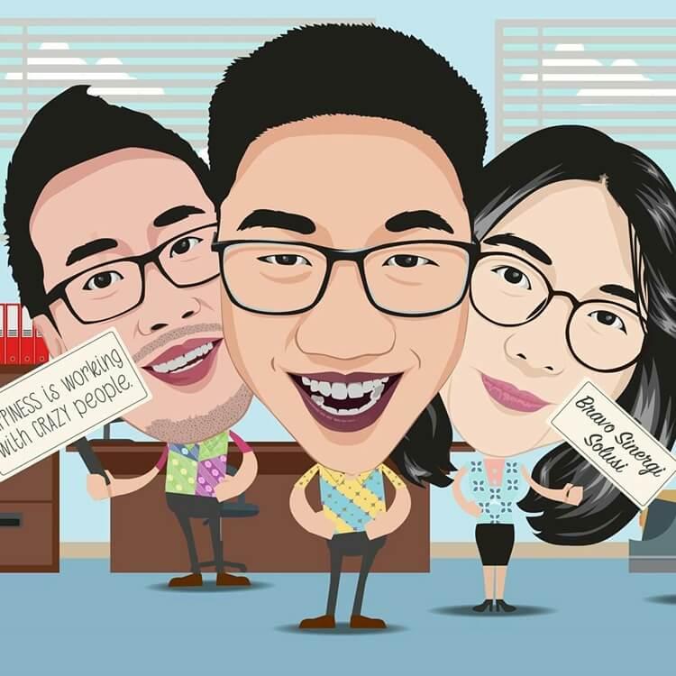 ide bisnis jasa pembuatan karikatur murah terpercaya dan terbaik di indonesia