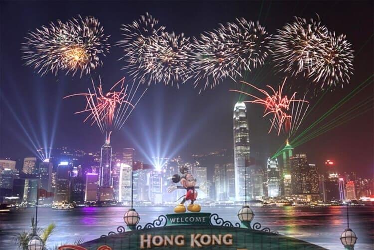 pesta kembang api wisata natal dan tahun baru di hong kong