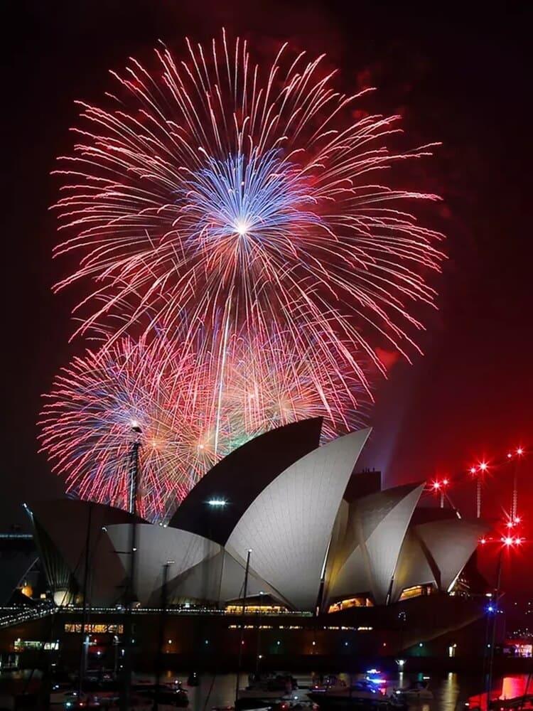 pesta kembang api wisata natal dan tahun baru di sydney