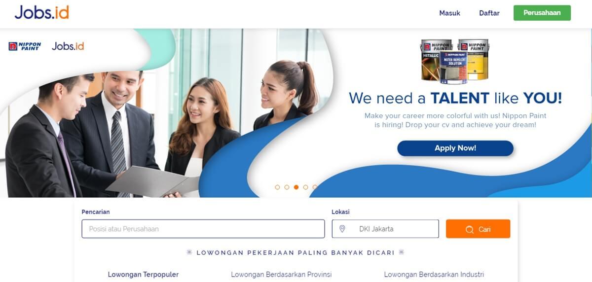 jobs.id situs bursa kerja terpercaya, situs lowongan kerja terpercaya dan terbaik di indonesia