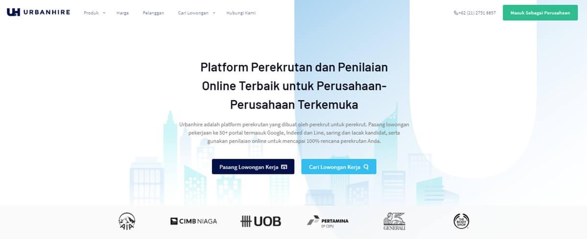 urbanhire.com situs bursa kerja terpercaya, situs lowongan kerja terpercaya dan terbaik di indonesia