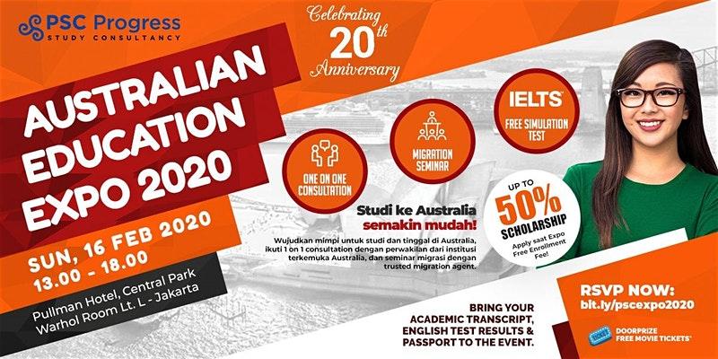 pameran pendidikan internasional 2020 dan Australian Education and Migration Expo 2020