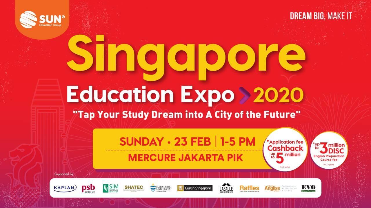 pameran pendidikan internasional 2020 dan Singapore Education Expo 2020
