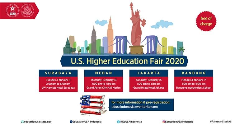 pameran pendidikan internasional 2020 dan US Higher Education Fair 2020