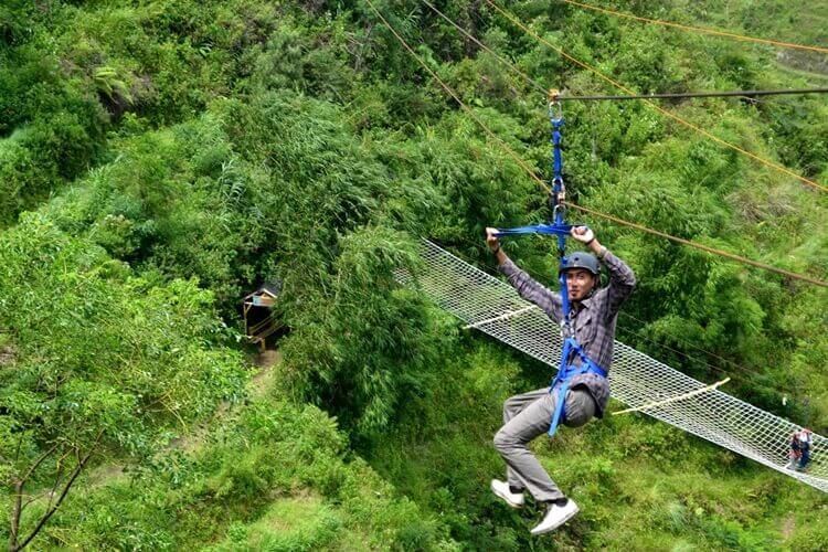 tempat wisata di semarang flying fox sidomukti jimbaran