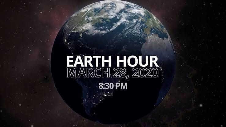 yuk memperingati earth hour 2020 pada hari ini pukul 20.30 - 21.30 di indonesia dan dunia