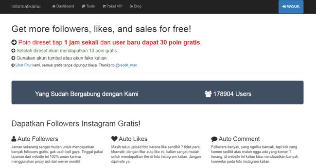 situs auto followers instagram, website penambah followers, web auto followers instagram