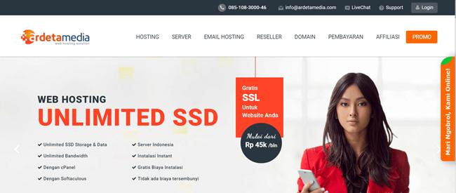 kelebihan web hosting unlimited murah ardetamedia