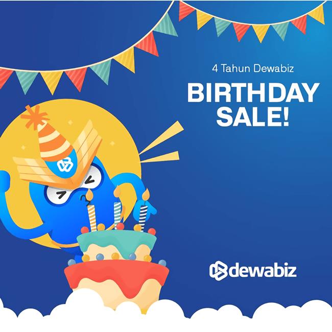 promo hosting dewabiz.com ulang tahun ke 4