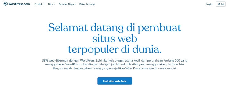 cara instan bikin website