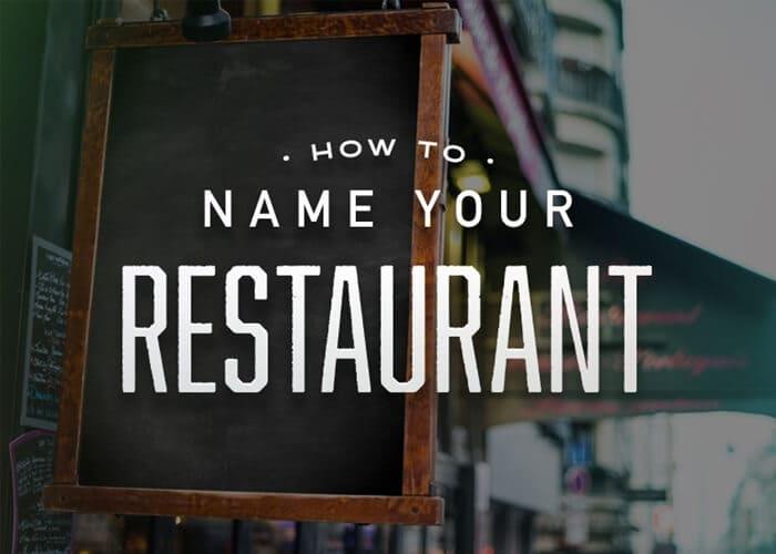 cara menentukan nama restoran