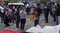 demonstrasi aksi protes nasional anti israel di jerman