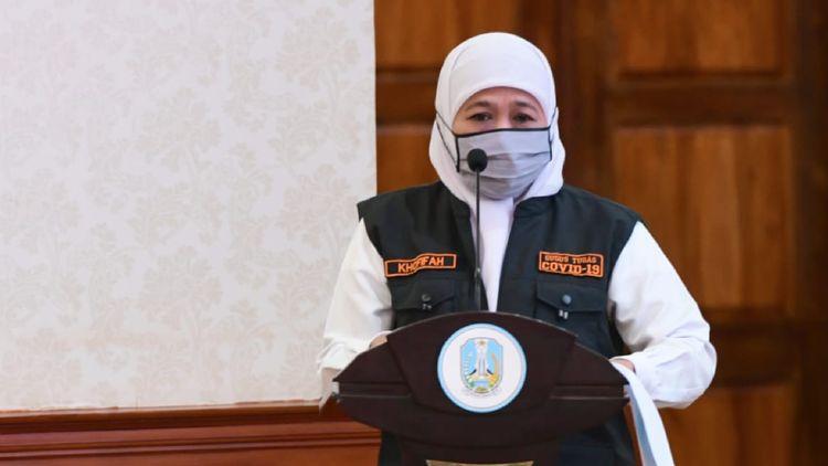 gubernur jatim khofifah indar parawansa izinkan salat idul fitri di zona oranye