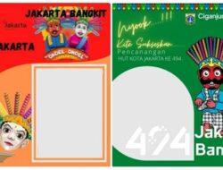 "Twibbon HUT DKI Jakarta Ke-494, 22 Juni 2021 Terbaru: Download Bingkai Foto ""Jakarta Bangkit"" Gratis!"
