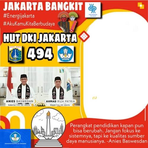 link download kumpulan twibbon hut dki jakarta ke 494 22 juni 2021