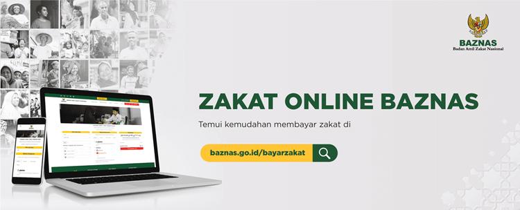 cara bayar zakat fitrah di baznas secara online