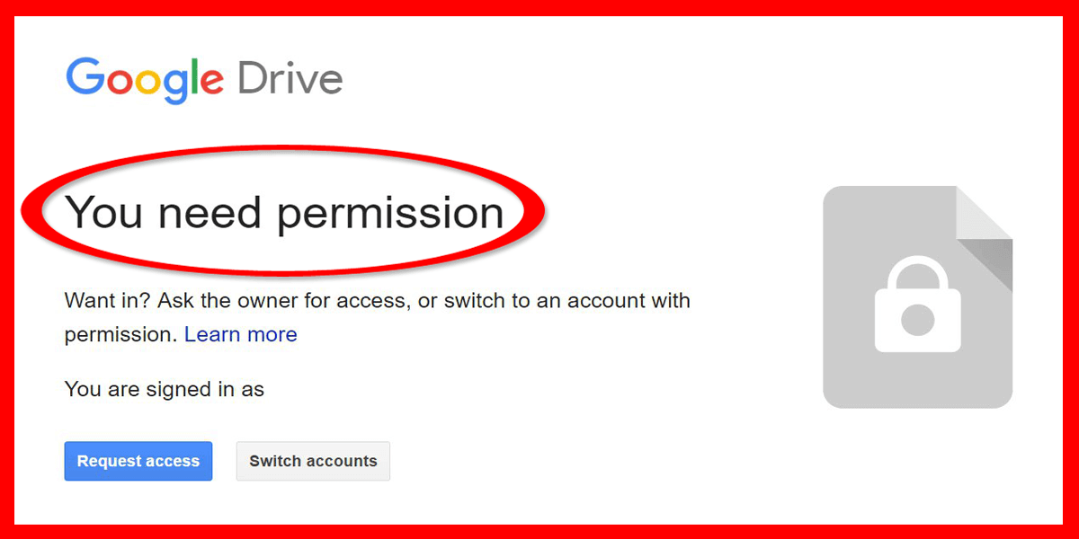 cara mengatasi google drive minta izin akses you need permission access denied