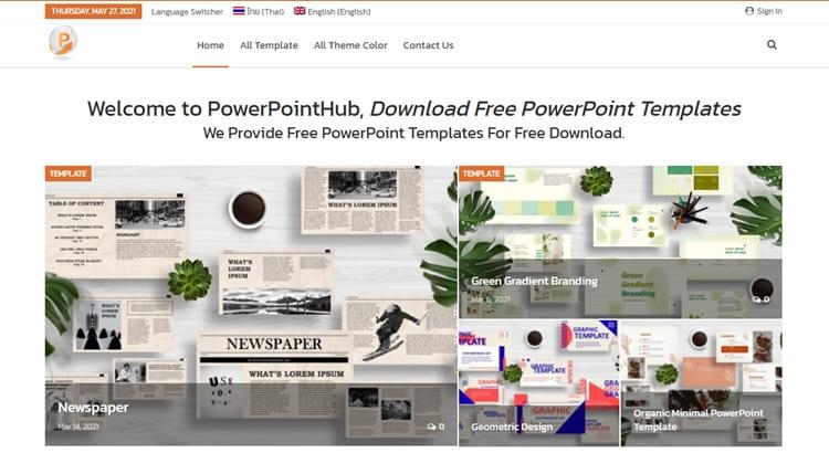 rekomendasi situs penyedia template powerpoint gratis, terlengkap dan terbaik
