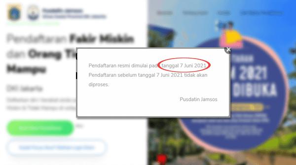 pendaftaran program fmotm 2021 dki jakarta resmi dibuka klik link fmotm.jakarta.co.id untuk daftar bansos dtks