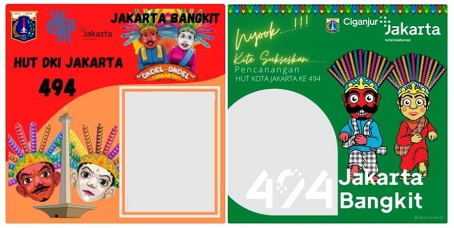 link download twibbon hut dki jakarta 2021 terbaru dan ucapan selamat ulang tahun jakarta ke-494