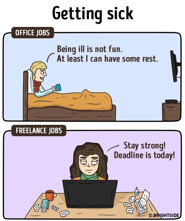 Berangkat ke kantor eh hujan deras, payung rusak, lupa bawa jas hujan pula. Freelancer menikmati hujan sambil ngopi plus ditemenin kucing kesayangan