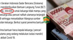 yayasan gerakan indonesia sadar bencana graisena salurkan blt bantuan langsung tunai rp 350 ribu