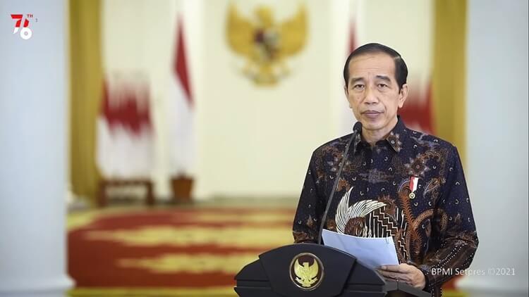 presiden jokowi mengumumkan pemerintah memperpanjang ppkm level 4 hingga 9 agustus 2021