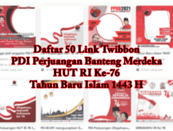 50 Link Download Twibbon PDI Perjuangan HUT RI Ke-76 Lucu & Tahun Baru Islam 1443 H Terbaru 2021