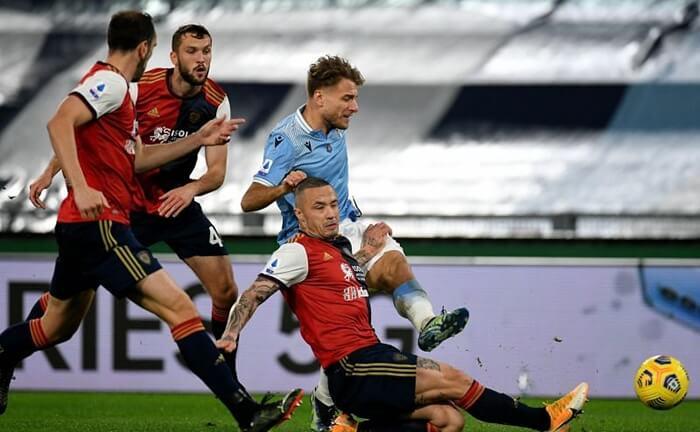 hasil pertandingan lazio vs cagliari berakhir imbang 2-2